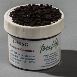TeraVita L-85 SG 85% Humic Acid Raw Leonardite Spreadable Granules (Insoluble)